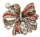 Heidi Daus Bow Crystal-Embellished Pin