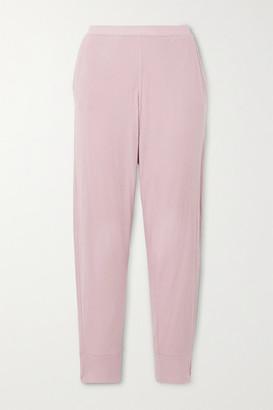Skin Grayson Organic Pima Cotton-jersey Track Pants - Pink
