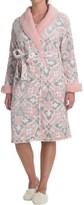 Echo Sherpa Trim Plush Microfleece Robe - Long Sleeve (For Women)