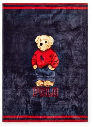 Ralph Lauren Sweatshirt Bear Throw Blanket