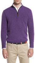 Peter Millar Artisan Cashmere Quarter-Zip Sweater, Blue