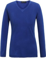 Camii Mia Women's Candy Color V Neck Pullover Sweater