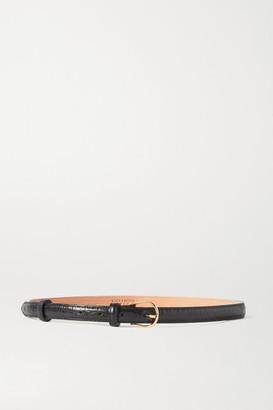 Black & Brown + Net Sustain Tess Crinkled-leather Belt - 65