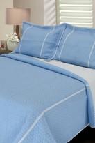 Melange Home Lace Seersucker Quilt - Blue
