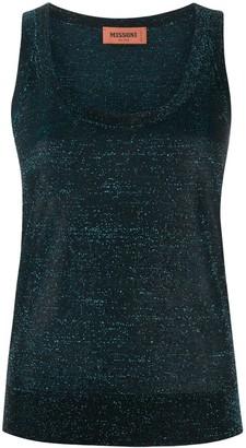 Missoni Longline Metallic Thread Cardigan