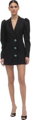 Rotate by Birger Christensen Embellished Wool Blend Blazer Dress