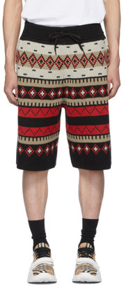 Burberry Black Fair Isle Nathan Shorts
