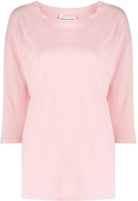 Semi-Couture three-quater sleeve cotton T-shirt