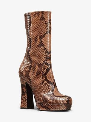 Michael Kors Emmy Python Platform Boot