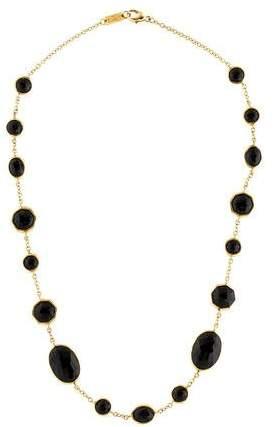Ippolita Onyx Polished Rock Candy Station Necklace