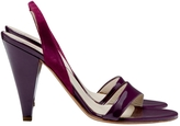 Christian Dior Purple Patent leather Sandals