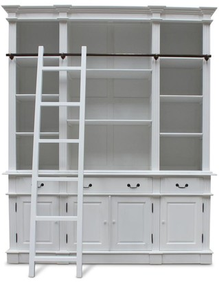 Hudson Furniture Estate Bookcase With Ladder