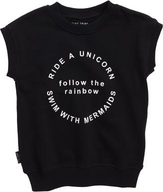 TINY TRIBE Follow the Rainbow Short Sleeve Sweatshirt