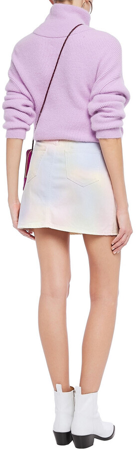 Thumbnail for your product : Ganni Tie-dyed Denim Mini Skirt