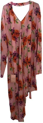 MSGM Pink Silk Dresses