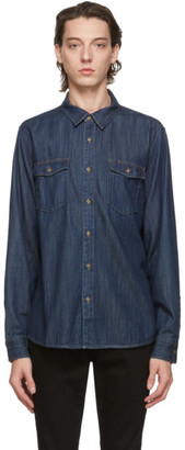 Frame Indigo Denim Double Pocket Shirt