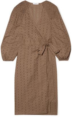 Marysia Swim Pink Sands Broderie Anglaise Cotton Wrap Dress