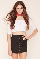 Forever 21 Denim Button-Front Skirt