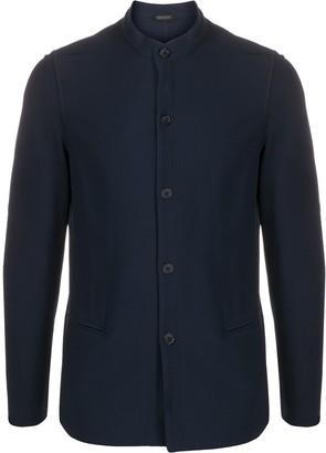 Giorgio Armani Mandarin Collar Buttoned Jacket