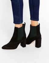 London Rebel Flare Heeled Ankle Boots