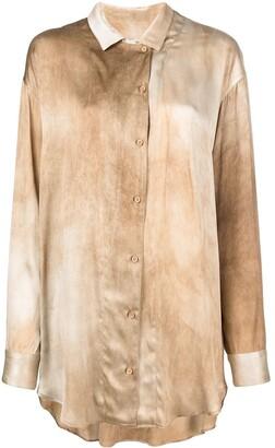 UMA WANG Dyed-Effect Silk Shirt