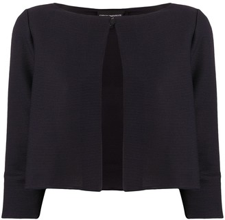 Emporio Armani Ribbed Cropped Jacket