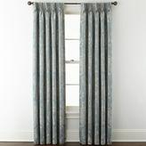 Liz Claiborne Fleur Jacquard Pinch-Pleat/Back-Tab Room-Darkening Curtain Panel