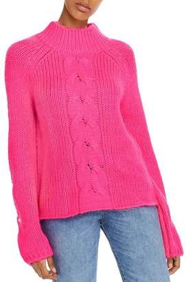 Aqua Balloon-Sleeve Mock-Neck Sweater - 100% Exclusive