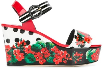 Dolce & Gabbana floral print wedge sandals