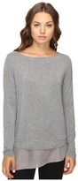 Heather Silk Hem Pullover