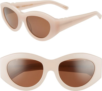 Pared Eyewear x Holly Ryan Serra Sun 42mm Oval Sunglasses