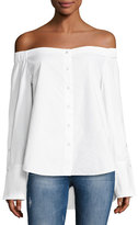 DL1961 East Hampton Off-the-Shoulder Top, White