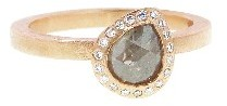 Todd Reed Grey Pear Diamond Solitaire - Rose Gold