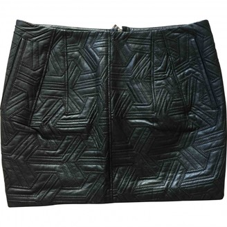Faith Connexion Black Leather Skirt for Women