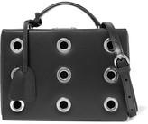 Mark Cross Grace Small Eyelet-embellished Leather Shoulder Bag - Black