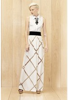 Milly Diamond Fil Coupe Maxi Skirt