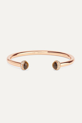 Piaget Possession 18-karat Rose Gold, Tiger's Eye And Diamond Cuff - S