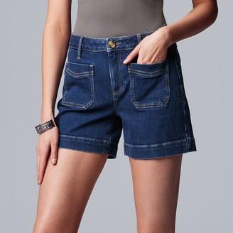 Vera Wang Women's Simply Vera Front Pocket Jean Shorts