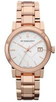Burberry City Rose Goldtone Stainless Steel Bracelet Watch/34MM