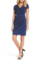 Adrianna Papell Women's Stripe Sheath Dress