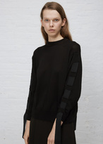 TOGA Archives black tape knit top