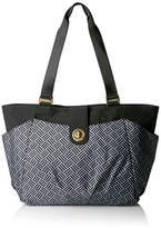 Baggallini Gold International Norway Laptop Tote Basket Weave Shoulder Bag