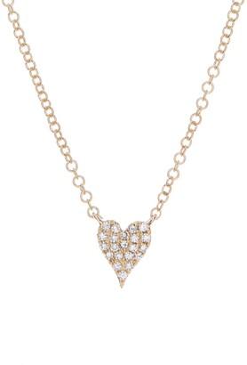 Ron Hami 14K Yellow Gold Pave Heart Pendant Necklace - 0.05 ctw