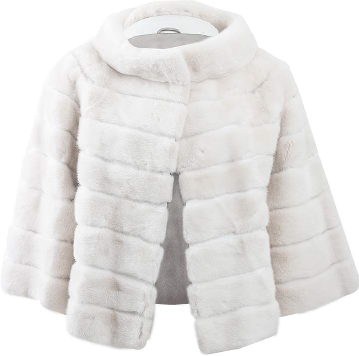 Yves Salomon Three-Quarter Sleeve Mink Jacket