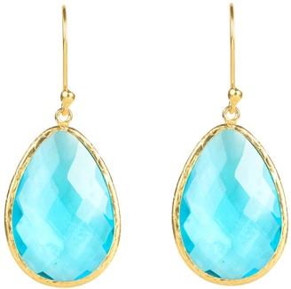 Latelita Single Drop Earring Blue Topaz Gold