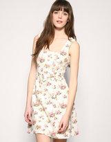 Floral Button Dress