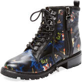 Alice + Olivia Women's Tyrese Enchanted Forest Leather Bootie