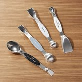 Crate & Barrel 2-in-1 Stainless Steel Magnetic Measuring Spoons
