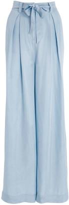 Modern Rarity Wide Leg Tie Waist Trousers, Blue
