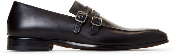 Black Puma Leather Loafers Mezlan Micro Studded Loafer Shoes